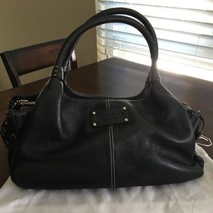 Classic Kate Spade Black Leather Handbag